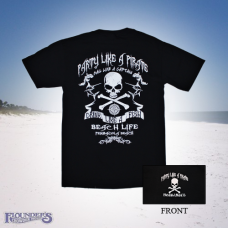 Drink Like a Fish Pirate Tee - Black