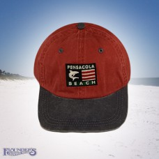 Shark Flag Cap-Red
